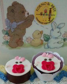 Cupcake Chá de Bebê, Lembrancinha Maternidade!