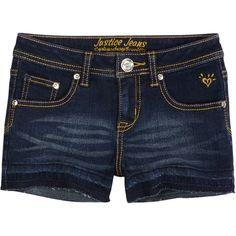 Let Out Hem Denim Shorts ($30) ❤ liked on Polyvore