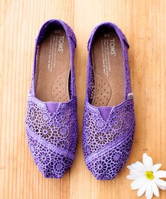 Purple Crochet Classics by TOMS #toms #zulilyfinds #zulily Free shipping on TOMS orders of $65 or more!