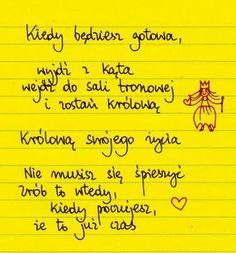 Beata Pawlikowska My Side, Positive Mind, Resolutions, Diaries, Sentences, Notebooks, Mental Health, Psychology, Mindfulness