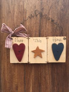 Bless This Home Wood Sign by Cards4Charlie on Etsy