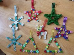 Lollipop/lolly/popsicle stick Christmas tree decorations for kids/children to make