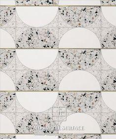 White Tile Texture, Tiles Texture, Stone Mosaic, Stone Tiles, Floor Patterns, Tile Patterns, Floor Design, Tile Design, Terrazo Flooring