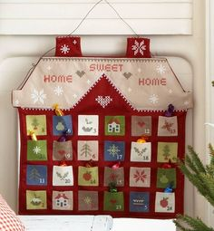home sweet home felt advent calendar by the contemporary home | notonthehighstreet.com
