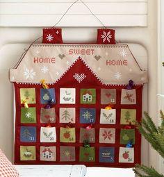 home sweet home felt advent calendar by the contemporary home | notonthehighstreet.com