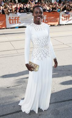Impossibly gorgeous.  Lupita Nyong'o At Toronto International Film Festival Premiere