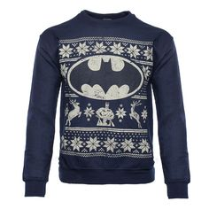 Product code: BM-67FFX Officially-licensed Batman merchandise Warm sweater with a printed design Design features Batman, the Bat Symbol, two reindeer, and other festive decorations Rich navy blue sweater features a distressed design An exact replica of the sweater Alfred gives Bruce Wayne every year for Christmas It's true. Each year Alfred gives Bruce Wayne the very …