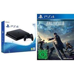 PlayStation 4 - Konsole (500GB, schwarz,slim) + Final Fantasy XV - Day One Edition