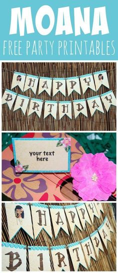 Free Disney Moana Party Printables. These are perfect printables for a Moana birthday party.