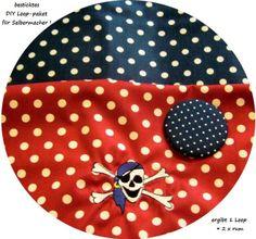 STICK♥Loop♥ DIY Pirat Dots- petrol/rot von ஐღKreawusel-aufgehübscht✂ஐ  auf DaWanda.com