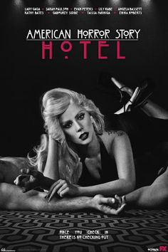 American Horror Story - Hotel Tv Show Poster Lady Gaga American Horror Story Movie, American Story, Drama, Ahs Hotel, Movies And Series, Fantasy, American Singers, Horror Stories, Tv Shows
