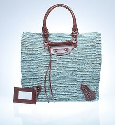 Product Square Raffia Shopping - Handbags -Totes - Balenciaga - StyleSays