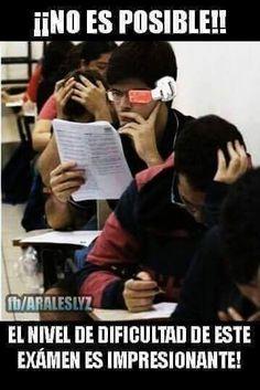 exacto sho estoy asip en el examen y al final dice el profe lo hizo fácil :u el examen