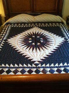 Lancaster County Amish Handmade King Mariners' Star Quilt #365 by AmishHiddenTreasures on Etsy