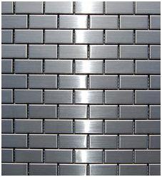 cheap stainless steel backsplash behind stove | stainless-steel-tile