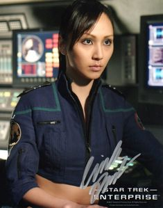 Linda Park Star Trek | Linda Park Autographed Photo #2 - Enterprise - Star Trek - Autograph ...