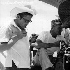 James Dean enjoying a moment of relaxation on the set of Giant. #jamesdean #giant #texan #americanicon #borncool #cool #styleicon #icon #blackandwhite #oldies #vintage #50s #1950s #legendsneverdie #legend #smoking #classicactor #film #classicmovies #gorgeous #handsome #cute #hollywood