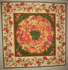 Fall Wall Hanging or Table Topper by PicketFenceFabric on Etsy, $32.95