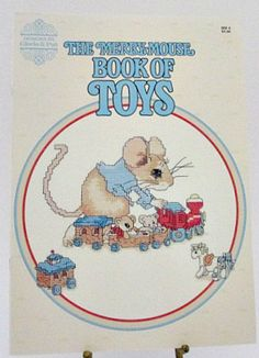The Merry Mouse Book of Toys Counted Cross door sewmanybuttons, $3.75