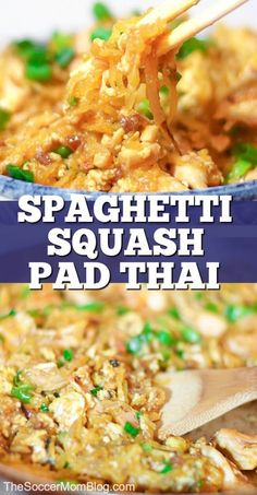 Guilt-free Spaghetti Squash Pad Thai Learn how to make this delicious spaghetti squash pad thai recipe! This pad thai recipe is delicious and healthy to make. Your family will love this easy Asian inspired dish. Make it today! Asian Recipes, Low Carb Recipes, Vegetarian Recipes, Cooking Recipes, Healthy Recipes, Sauce Sans Gluten, Keto Sauce, Whole30, Courge Spaghetti
