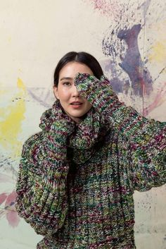 Lang Yarns, Mittens, Turtle Neck, Sweaters, Fashion, Wool, Tricot, Breien, Fingerless Mitts