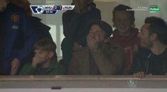 David Bekcham reaction to Rooney's goal !!