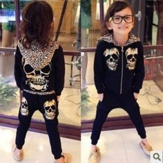 Your Little Ones will love this classy, Unisex Leopard Skull Sets, yet very stylish outfit is adorable,The quality and fit are excellent.