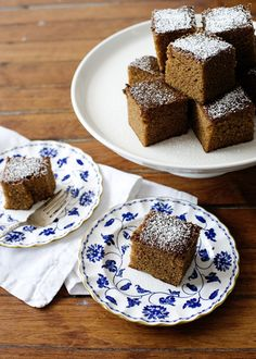 Guiness Gingerbread - butter, brown sugar, Guiness, ginger, cinnamon and clove #dessert