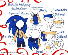 Sonic the Hedgehog Jacket by on deviantART Sonic And Amy, Sonic And Shadow, Sonic Boom, Sonic The Hedgehog Costume, Sonic Costume, Silver The Hedgehog, Shadow The Hedgehog, Hedgehog Art, Sonic Fan Art
