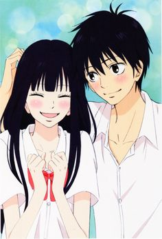 Kimi ni Todoke. Just started this anime. It's ADORABLE! There's romance from the very start, which I love. Sometimes you just want a super girly shojo, you know? :)