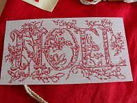 ru / Фото - Noel et Paques - Summerville Christmas Words, Christmas Banners, Christmas Themes, Christmas Crafts, Christmas Ornaments, Embroidery Monogram, Ribbon Embroidery, Cross Stitch Alphabet, Cross Stitch Charts