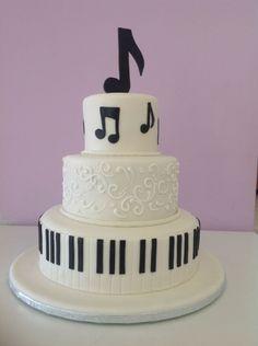 Music Birthday Cakes, Easy Kids Birthday Cakes, Music Themed Cakes, Music Cakes, Big Cakes, Crazy Cakes, Beautiful Cake Designs, Beautiful Cakes, Bolo Musical