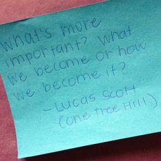 One tree hill quote by Lucas Scott