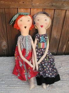 Flora Handmade Rag Doll Soft Cloth Doll 22 by palomitaragdolls