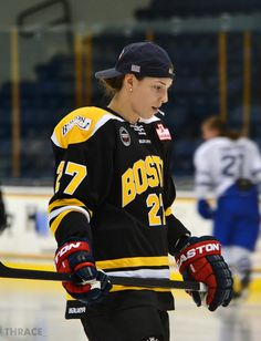 Warm-ups | subject :: Hilary Knight | by :: Boston Blades, CWHL via thrace-.tumblr.com