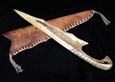 antler bone knife