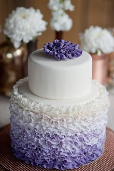 Ombre Ruffled Cake?... yes, please! #cakes