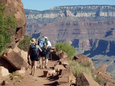This  Sept. 27, 2010 file photo shows hikers on the South Kaibab Trail in Grand Canyon National Park.