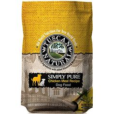 Tuscan Natural Pet Food Simply Pure Chicken Meal Dog Food Recipe, 30 lb --- To check this awesome product by going to the link at the image. (This is an affiliate link and I receive a commission for the sales) Dog Food Recipes, Chicken Recipes, Chicken For Dogs, Natural Pet Food, Food Net, Dry Dog Food, Lamb, Image Link, Pet Supplies
