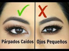 Maquillaje de ojos para parpados caidos,hinchados,paso a paso | hooded eye makeup tutorial - YouTube