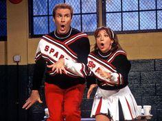 Will Ferrell and Cheri Oteri as the Spartan Cheerleaders