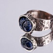 Ring. German nickel and ceramics