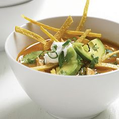 To. Die. For.  Recipes : Tortilla Soup With Chicken and Avocado