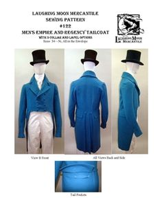 Men's Empire and Regency Tailcoat Pattern # 122