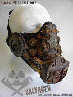 Post Apocalypse 'Scrap Tech' mask for LARP and Airsoft. Made by Mark Cordory Creations. Commission enquiries always welcome @ www.markcordory.com