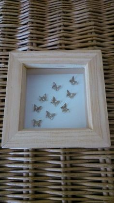 Small Natural Wood Box Frame with pretty by sweetpeaandblue, Box Frames, Wood Boxes, Natural Wood, Guest Room, Pretty, Butterflies, Nature, Blue, Home Decor