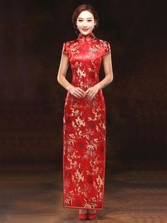 hand made Chinese fabric frog buttons; Chinese Wedding Dress Traditional, Traditional Dresses, Red Chinese Dress, Chinese Bride, Red Wedding Dresses, Bridesmaid Dresses, Asian Style Dress, Cheongsam Dress, Ao Dai