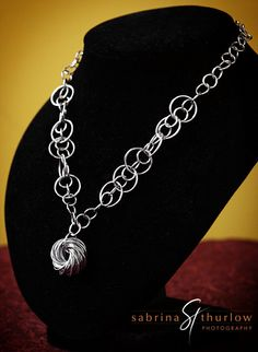Chainmaille Love Knot necklace - mobius chainmail for  women. $45.00, via Etsy.