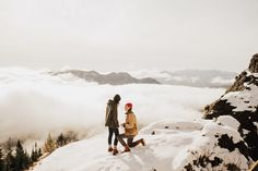 Not sure if this dreamy moutaintop proposal happened in Oregon or in Heaven | Image  Dylan Howell Photography
