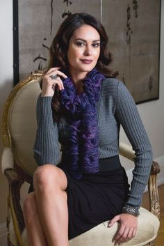 Écharpe à spirales Sashay Metallic (tricot)